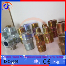 NPT JIC SAE BSP METRIC Carbon steel Hydraulic connector fitting