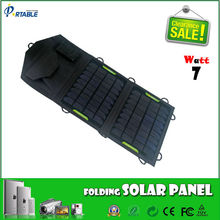 7W folding solar charger system,Solar Panel Battery Charger Charging Device Kit, Portable Folding Solar