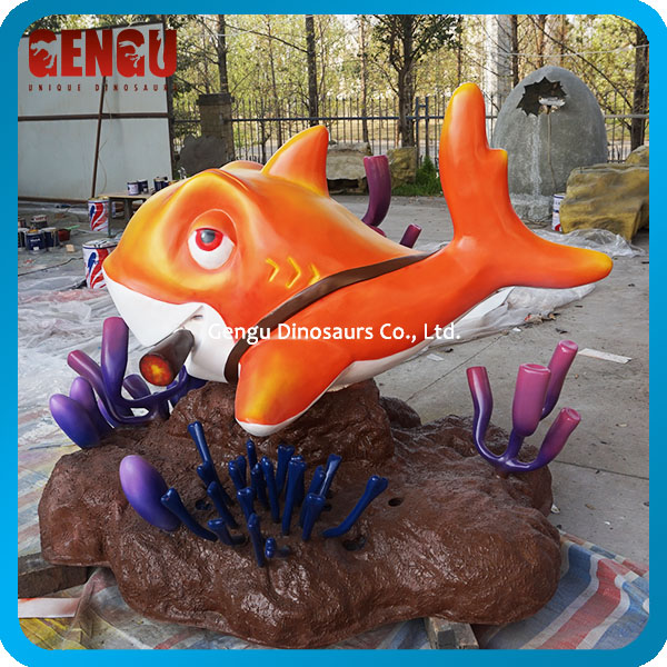 Children Playground Equipment Cartoon Fish Model
