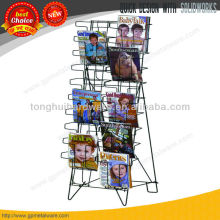 Floor metal magazine display stand