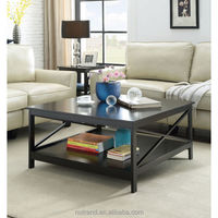 Oxford wooden lift top coffee table modern with storage rack shelf