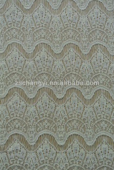 Eyelash lace fabric cotton skirts translucent hollow lace material