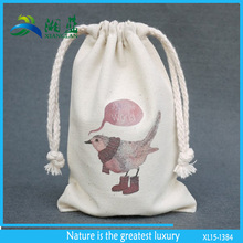 eco friendly gift packing cotton bag, custom printed cotton draw string bag