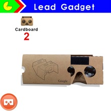 2016 Newest Google Cardboard 2.0 Virtual reality 3D glasses Box-style VR2 3d glasses with headband