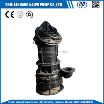 Submersible slurry pump for barge