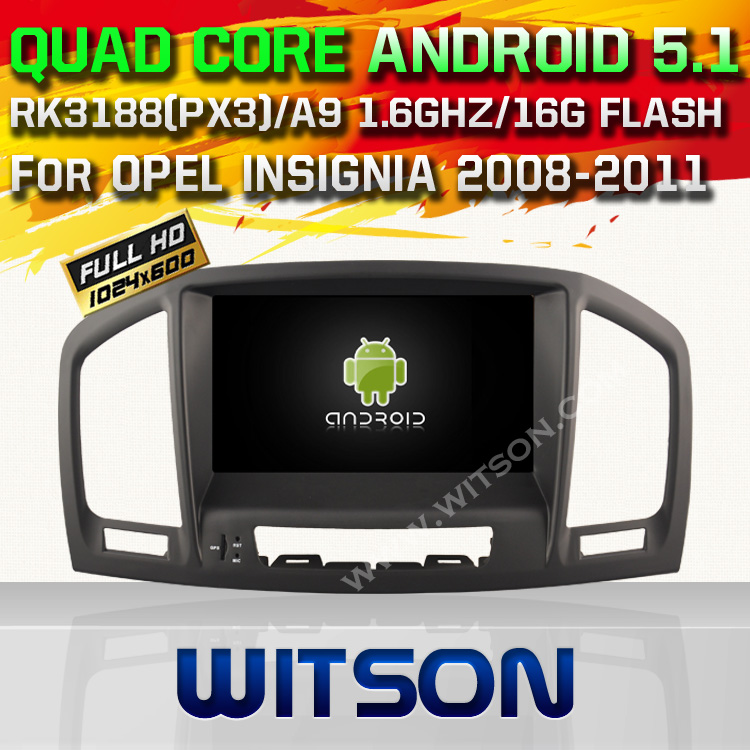 WITSON Android 5.1 DOUBLE DIN DVD RADIO GPS For OPEL INSIGNIA 2008-2011 WITH CHIPSET 1080P 16G ROM WIFI 3G INTERNET DVR SUPPORT