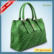 2015 New Design Hot Sale Elegance Attractive Genuine Leather Women handbag in China