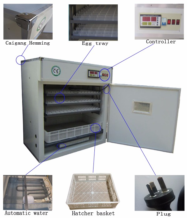 Best quality automatic machine 500 eggs incubator for sale HT-528