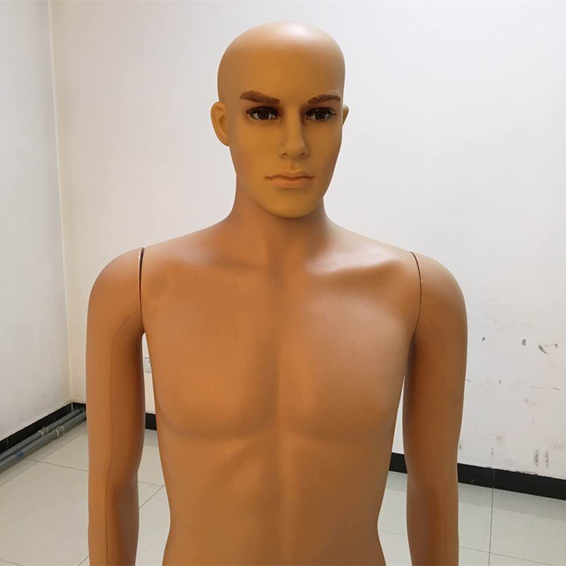 Xinji Professional Skin Color Standing Mannequin Plastic PE Man Mannequins