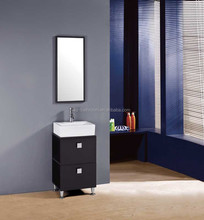 portable small size floor standing pvc bathroom cabinet with 2 drawers