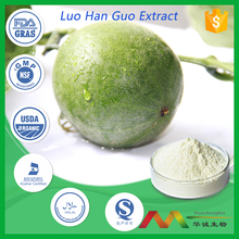 NSF-cGMP GRAS Natural Sweetner Organic Mogroside V Luo Han Guo/Monk Fruit Extract