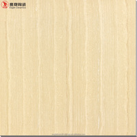 wood design ceramic floor tile, yellow polished porcelain tiles in China