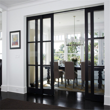 Customer size wooden door pocket sliding wood door design for sale