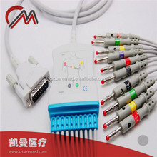 Schiller ECG / EKG with 10 leadwire,banana plug for ecg,TPU material