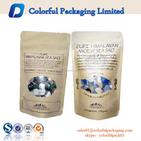 Heat seal laminated aluminum foil kraft paper sachet bag for food