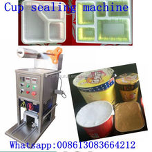 plastic box/cup/tray/bowl mini cup sealer with custom tray size