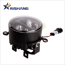 High quality sealed beam led daytime running light DC12V 1500lm 90mm projector lens car fog lamp