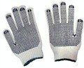 MHR Polyester or cotton knitted PVC dotted slip resistant safety work glove from China supplier