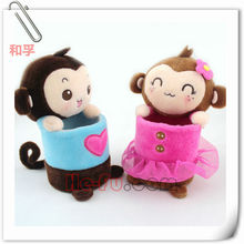 2014 Super Lovely Monkey Plush Pencil Vase Stationery Wholesale