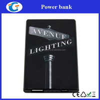 card size mobile phone powerbank 2200mah for christmas gift