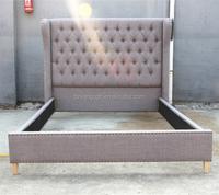 Handmade antique solid wood furniture oak furniture twin bed for bedroom