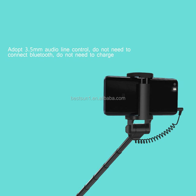 BESTSUN best sellers fashion designing selfie stick wired promotional selfie stick