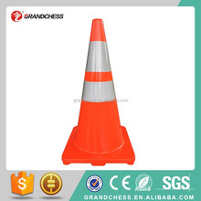 "Standard 28"" High Solid Orange One piece Flexible Road cone Safe cone Reflective PVC Traffic Cone"
