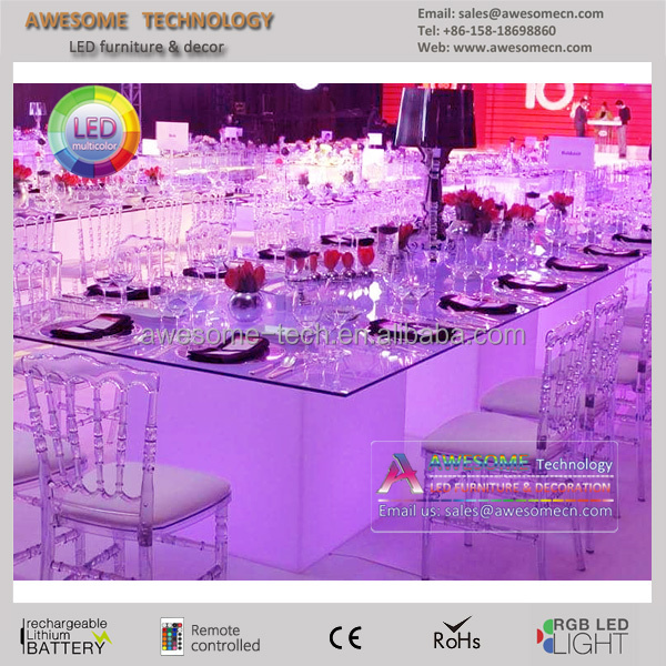 light led lights under table / led cube table light