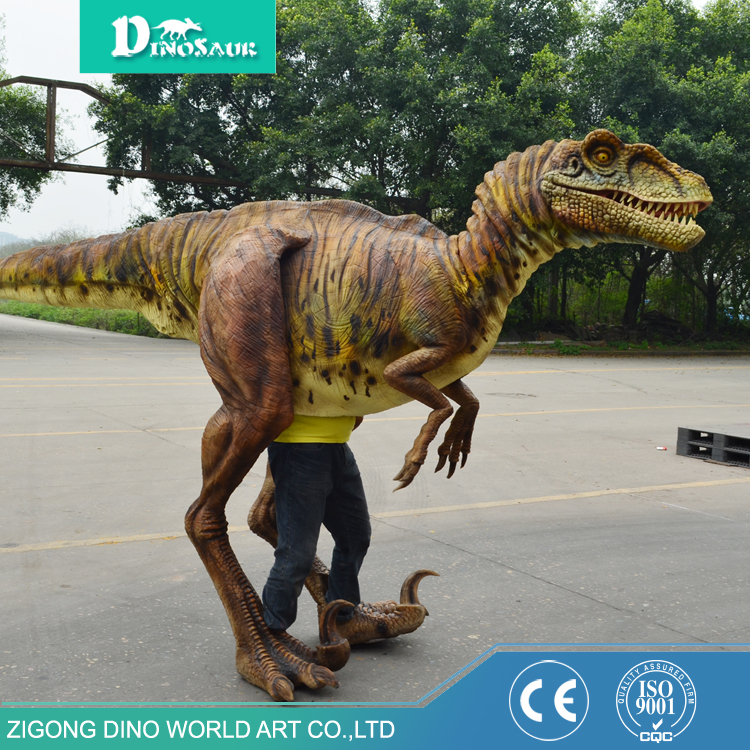 Top quality modern Theme park costume adult dinosaur