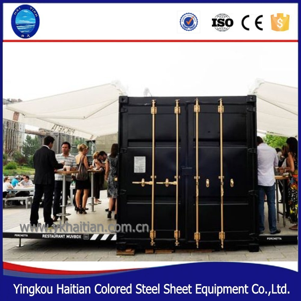 Hydraulic container houses shipping 20ft home container for Equipement cafe