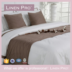 LinenPro Hotel Supplies Luxury King Size Ribbon Embroidery Wedding Bedding Set