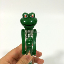 Green Boxing Frog Pen with LED Light Eyes Souvenir Gifts