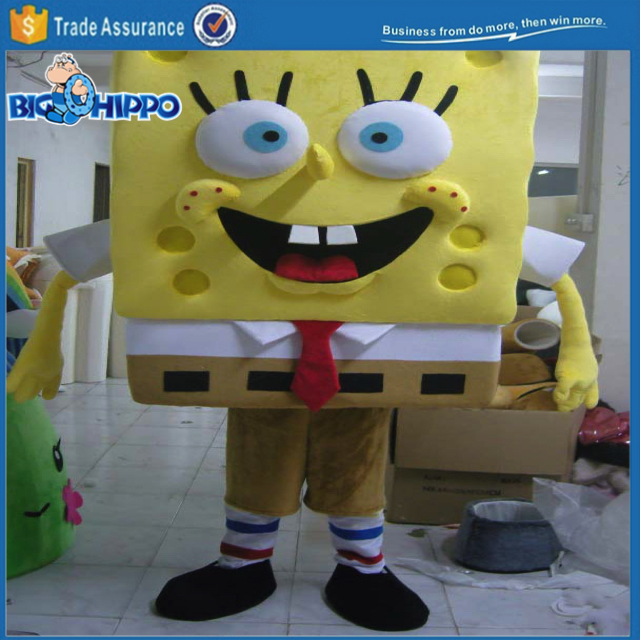 Happy television show spongebob realistic professional high quality custom mascot costume