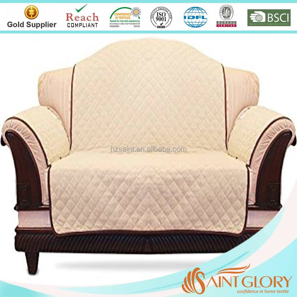 Cheap Hotel Wholesale Quilted Quick Drape Reversible Furniture Sofa Cover Protector for Sofa Love Seat - Customized Color
