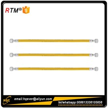 B17 yellow 304 stainless steel hose natural gas hose