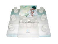 Total acrylic jewelry display set cylinder display stand with logo