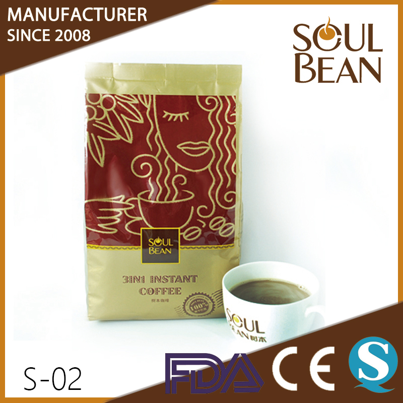 Neutral instant coffee mix with aroma taste