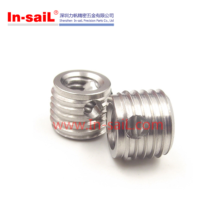 M10 10x14mm stainless steel self tapping thread insert with cutting holes
