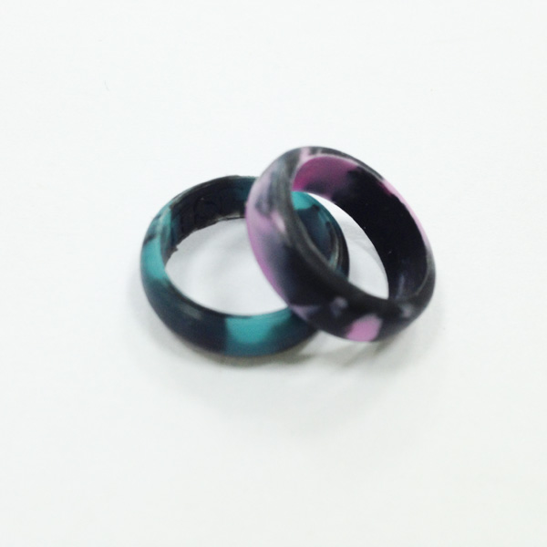 Womens Flexible Rings Silicone Rubber Wedding Band Ring