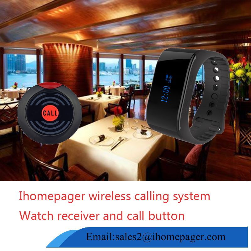Restaurant ordering system waiter watch pager wireless call system