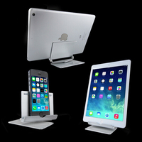 Hot Sale 360 degree Rotating Adjustable Aluminum Tablet Stand For 13inch Tablet pc Display