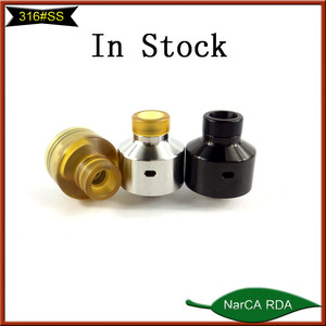High quality!!! Newest 316SS Narca Rda Sentinel RDA black silver Ultem narca rda with BF pin stock Now!!!