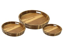 Bamboo tiger strip wood serving tray