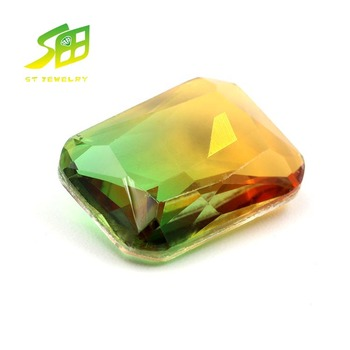 Factory sale Asscher cut red green Loose stone synthetic diamonds glass