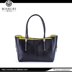 Wishche W048 Super Quality Tote Bag Wholesale Handbag Lady Satchel Real Leather Bag