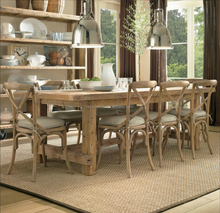 Slab wood dining table