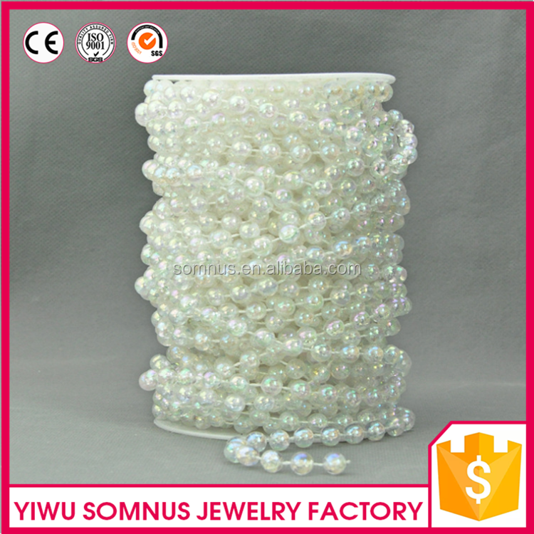 New product 8mm Colored Plastic Wire Ball <strong>Chain</strong> For Necklace Jewelry Making LP0040B