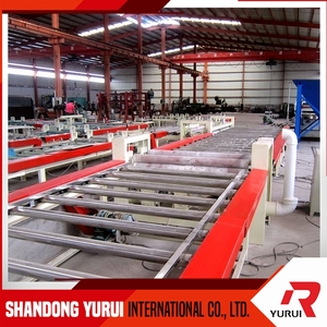 complete machinery for gypsum ceiling board production line/fully automatic gypsum ceiling board production line