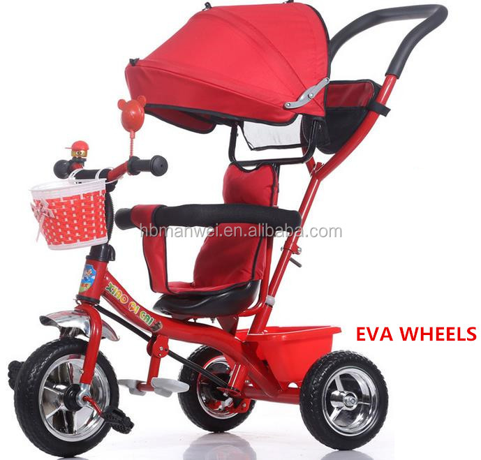 Wholesale cheap baby trike tricycle with canopy 3 wheel bicycle