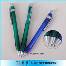 smooth fast writing transparent plastic ball point pen